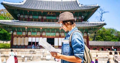 Du khách du lịch Hàn Quốc mùa hè